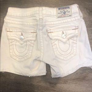 True religion white shorts